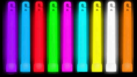 6 Inch Lightsticks, Britesticks Assorted Colors